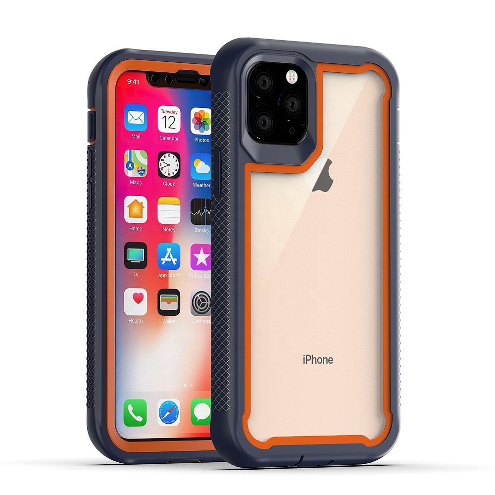 360 Degree Protective Armor Shock Proof TPU Frame PET <strong>Phone</strong> Case Back Cover for Apple iPhone 11 Pro Max XS XR X 8 Plus 7 6 SE 12