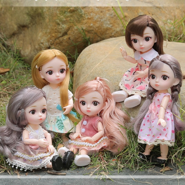 6 Inch 16cm 12 Moveable Joint Vinyl <strong>Dolls</strong> Toys Lovely Princess <strong>Doll</strong> Fashion Gift Decor Pretend Play <strong>Doll</strong> For Girls