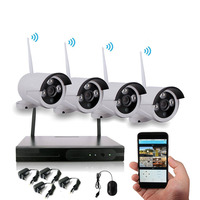 Factory Price 4ch home Security surveillance camera Recordable 1080P P2P IP CCTV Camera WiFi Wireless NVR Kit