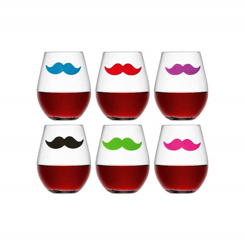 Eco-friendly Christmas Designs Silicone Suction Wine Glass Marker