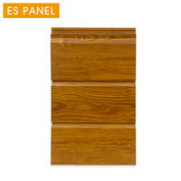 16mm decorative pu sandwich panel board wood grain exterior wall panel