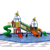 swimming pool slide play equipment water amusement park slide for water playground XRD