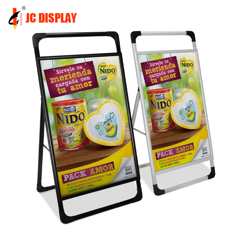 High quality aluminum <strong>A0</strong> double side a frame board poster display stand