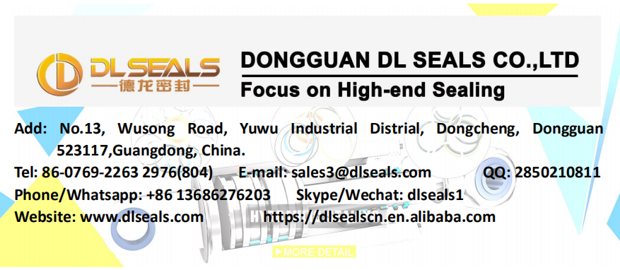 DLseals PTFE Yellow 3.8*8*3 spring energized seals