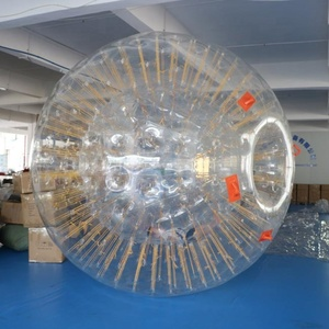 2.5 x 2m 0.7mm TPU Hot selling zorb ball games human bubble ball inflatable ball to roller for sale
