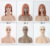 Realistic display wig fiberglass training mannequin head with shoulders for mannequin head