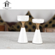 Two size of natural marble candle holder high quality home decor candle holders