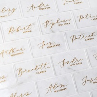 Clear Acrylic Place cards.Acrylic Escort Cards.Acrylic Wedding Decoration. Perspex Wedding Signs. Unique Escort Card.