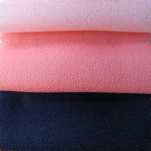 Hot sell 210gsm 95% <strong>polyester</strong> 5%spandex twist ity moss crepe fabric for dress