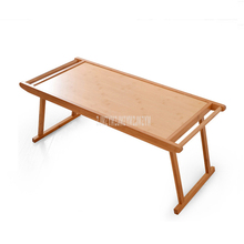 Foldable Bed Tray Breakfast Laptop Desk Natural Bamboo Low Table Simple Living Room Antique Tea Serving Coffee Table <strong>Furniture</strong>
