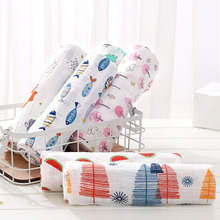 Zogift wholesale factory high quality 100 % cotton printed muslin swaddle blanket baby