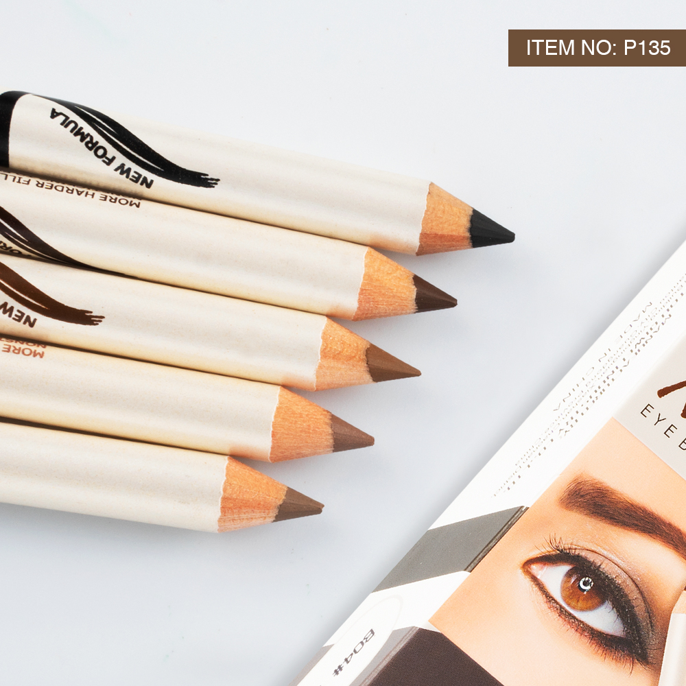 Menow P135 Cosmetic Makeup Wooden Eyebrow Pencil with Brush Cap