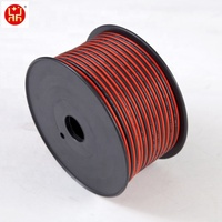 Black and Red 2 Core Flat Electrical cable and wires