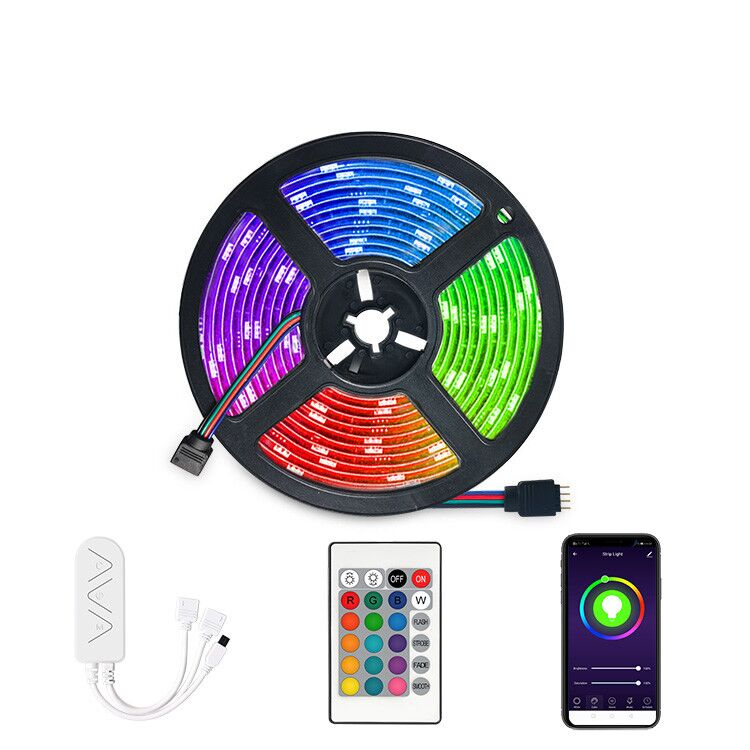 Smart WiFi LED Strip Lights <strong>RGB</strong> 5050 LED Light Working with Alexa Smart Led Strip Lights <strong>RGB</strong>