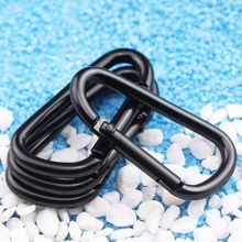 Colorful <strong>Hook</strong> Keychain Aluminium Metal China Keyring Snap Material D shape rock climbing carabiner