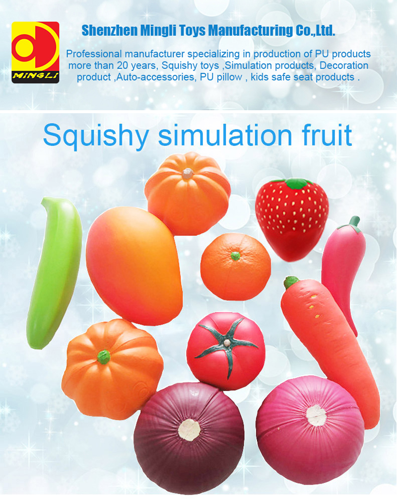 Cute Custom Squishy Artificial Fruit PU Foam Grapes Simulate Fruit Slow Rising Stress Toy