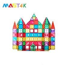 Amazon hot selling 100pcs magnet building tiles low MOQ magnetic building block sets DIY construction magnetic toys