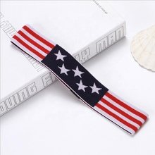 1.25Inch Fashion Custom Logo Printed Women Spa Cotton Elastic Headband