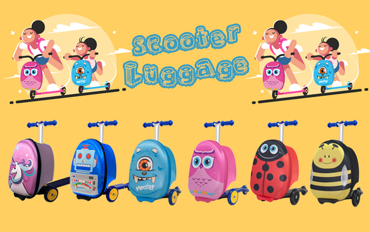 17 inch EVA carry-on luggage kids scooter suitcase Luggage Travel Bag set for Wholesale Promotional