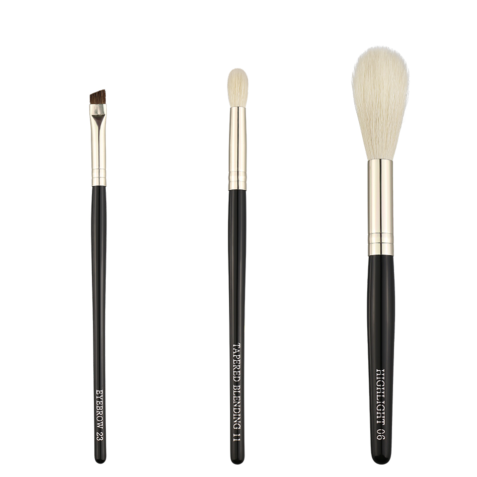 BEILI black foundation powder makeup brushes set Synthetic hair wooden handle make up brush single makeup brush wholesale