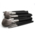 91010 Customized Private Label Vegan Brush Make Up Tools Powder Eye Natural 14pcs Black Makeup Brushes Set