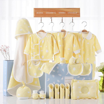High quality 100 cotton newborn baby clothes gift set of 21 pieces for kids bedding 0-3 months