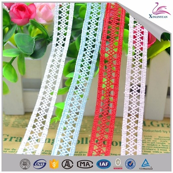 High quality wedding dress polyester clothing lace trims
