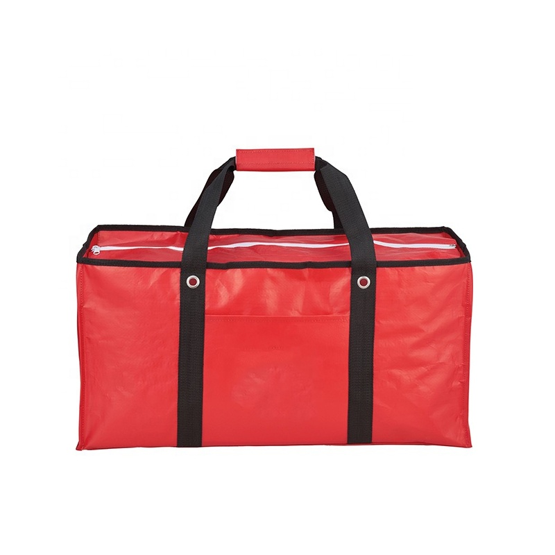 Oversized Laminated Non-Woven Zippered Tote Collapsible Laminated Tote