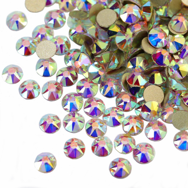 16 facets glass rhinestones non hotfix flatback bulk <strong>crystal</strong>