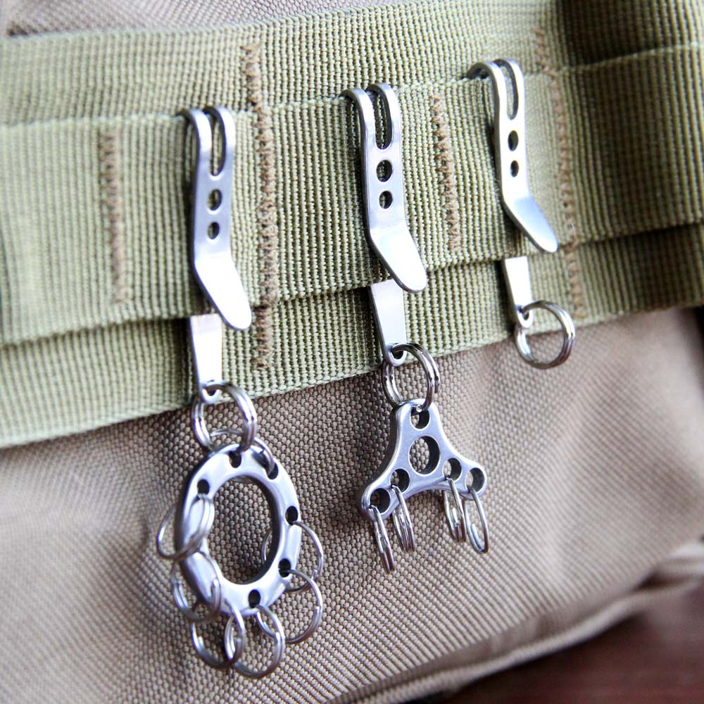 Suspension Clip Multi-Function Stainless Steel Mini Pocket Hanging Clip Chain Buckle Key Ring Holder