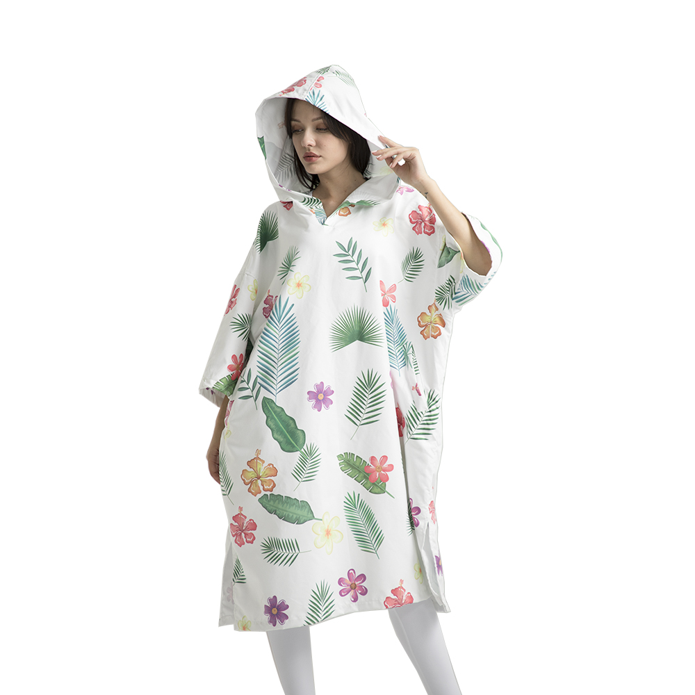 new product digital printed beach hooded towel fast drying custom printed bathrobe