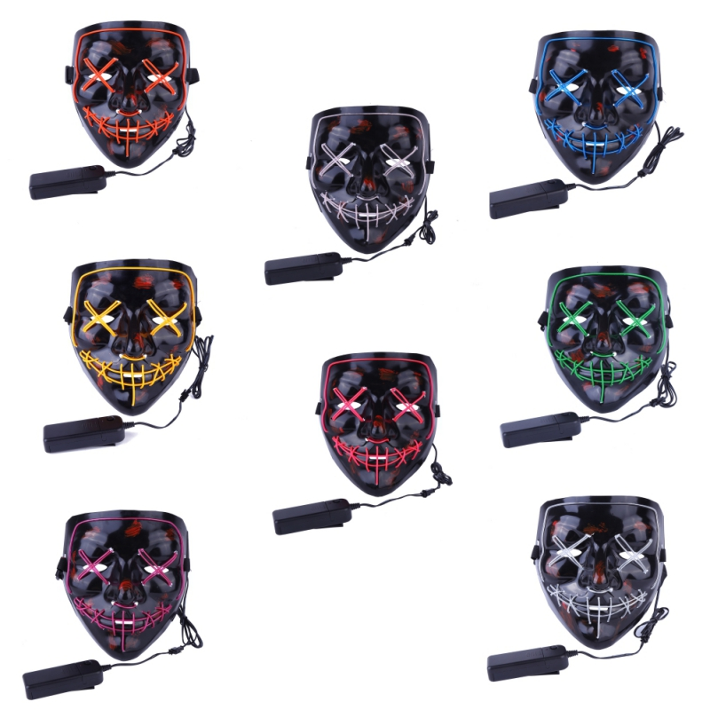 Hot selling products LED Mascara evil face led halloween mask