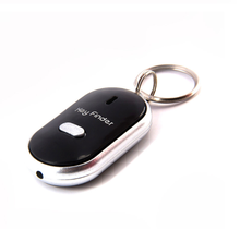 Wholesale promotional gifts electronic light keychain remote sound control anti-lost alarm whistle <strong>key</strong> finder