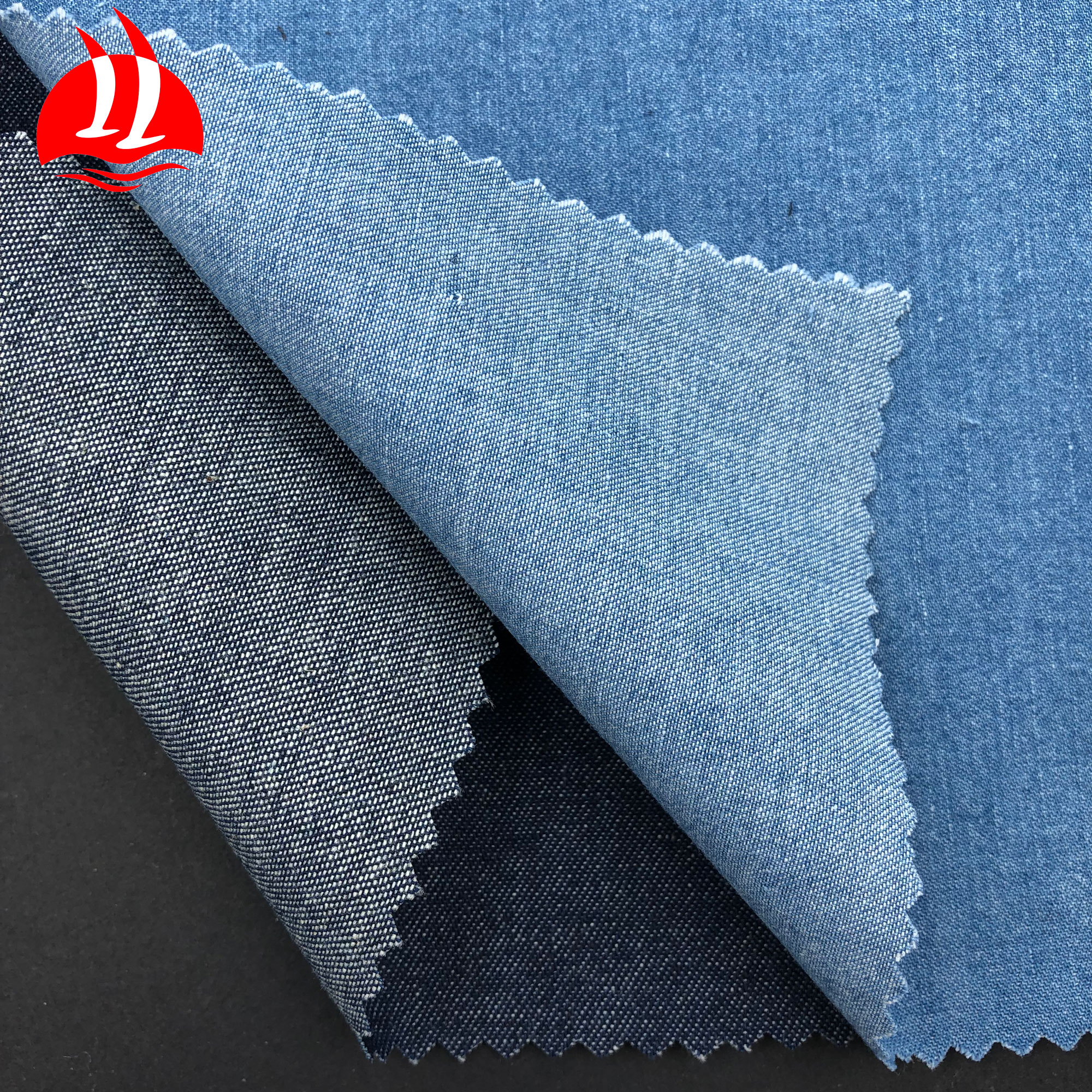 stock denim <strong>fabric</strong> nice price hot sale blue jacquard denim jeans <strong>fabric</strong>
