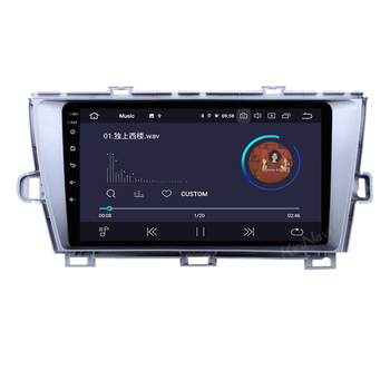 KiriNavi Android 8.1 9'' touch screen car dvd player for Toyota Prius 2009 - 2015 car dvd gps 5G WIFI DAB+DSP Amplifier