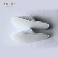 Custom Wholesale Bath Felt Embroidery Mule Cotton Anti-slip Slipper High Quality Indoor Bamboo Children Nude Hotel Slippers