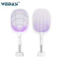Electric Fly Swatter Led Light Rechargeable Fly Mosquito Racket Killer Lamp