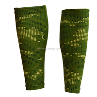 PURE Sublimation Elastic Quick Dry Custom Digital Camo Green Unisex Sports Calf Sleeve Breathable Compression