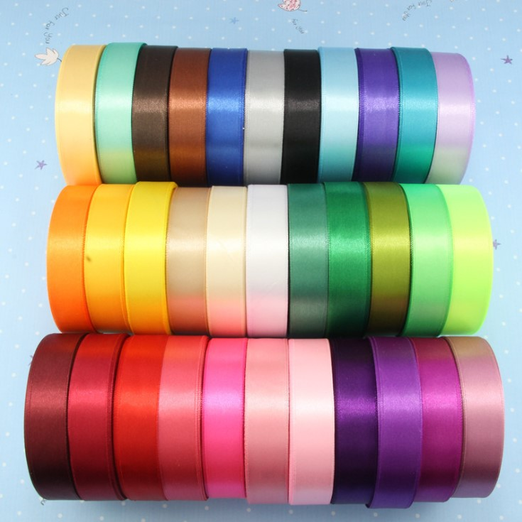 Factory Luxury 196 Colors 1 inch Double Face Satin Ribbon <strong>A06</strong>