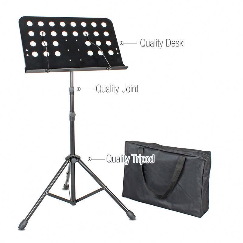 Factory adjustable foldable metal instrument orchestra sheet <strong>music</strong> stand for <strong>music</strong> note