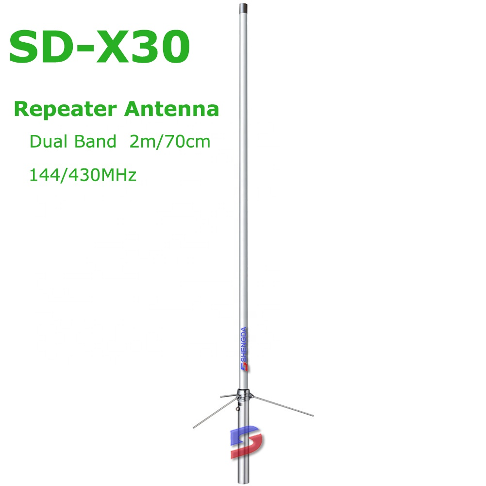 1.3M diamond quality VHF UHF dual band 144 430MHz outdoor base station fiberglass repeater <strong>antenna</strong> X30
