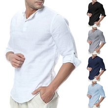 Wholesale <strong>Men's</strong> Casual Linen 3/4 Sleeve Custom <strong>Shirt</strong>,Pakistan Solid Slim Beach Yoga White <strong>Shirt</strong>