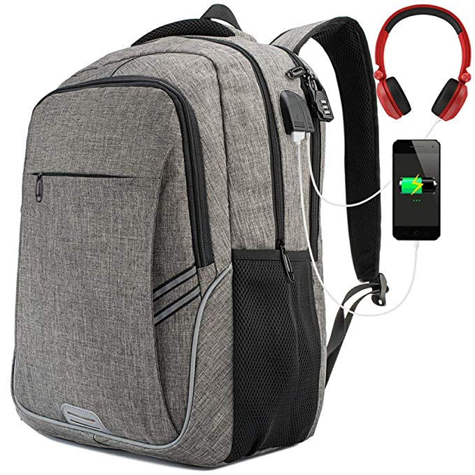 SW usb charging notebook backpack computer laptop backpack bag slim laptop bags backpack with massage straps