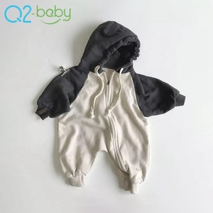 New unisex baby clothes organic cotton unique zip baby clothing romper wholesale 2412