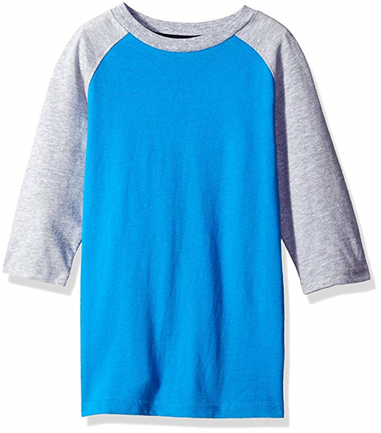 OEM Wholesale Clothing Overseas Fine Cotton Toddler T-Shirt Solid Crew Neck Raglan Kids Tee Shirt Baby T Shirts