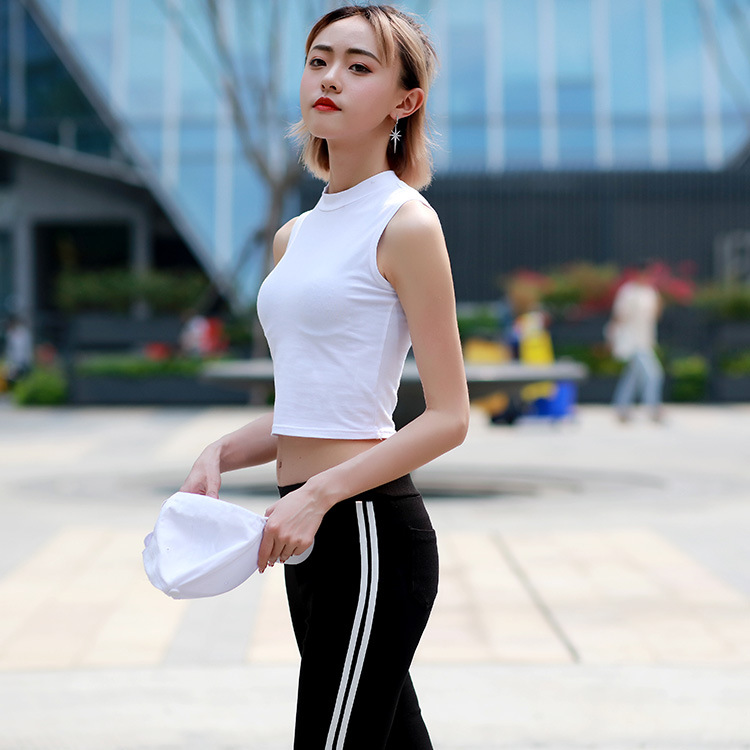 Fashion custom oem logo plain blank casual cotton and spandex slim fit girl tshirt women crop top