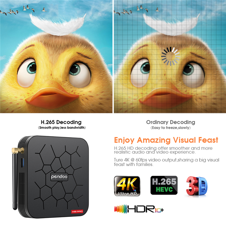Newest Allwinner H6 TV box Quad Core Pendoo X6 Pro 2GB 16GB 4GB 32GB Android 9.0 TV Box Dual WiFi STB set top box pendoo x6 pro