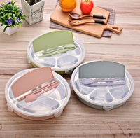 Small mini 1 layer round stainless steel insulated thermo lunch food box for kids