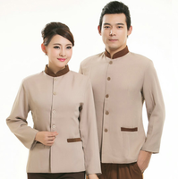 Long Sleeve Fashion Restaurant Waiter Uniform Restaurant/hotel Waiter Waitress Uniform Short Sleeve Restaurant Waitress
