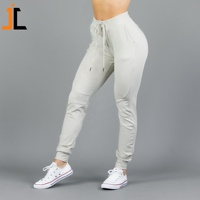 custom logo cotton women slim fitted joggers workout sweat pant running gym bottom training joggers